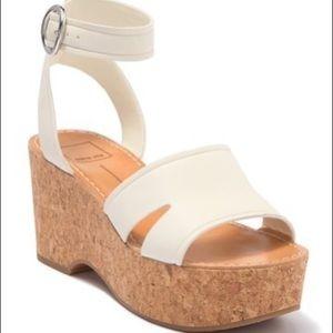 Dolce Vita Linda Cork & Leather Platform Sandals